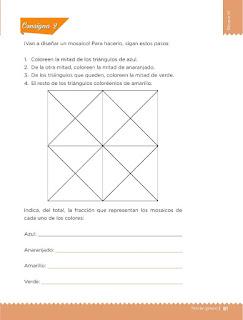 Apoyo Primaria Desafíos matemáticos 3ro. Grado Bloque III Lección 35 Flores y colores
