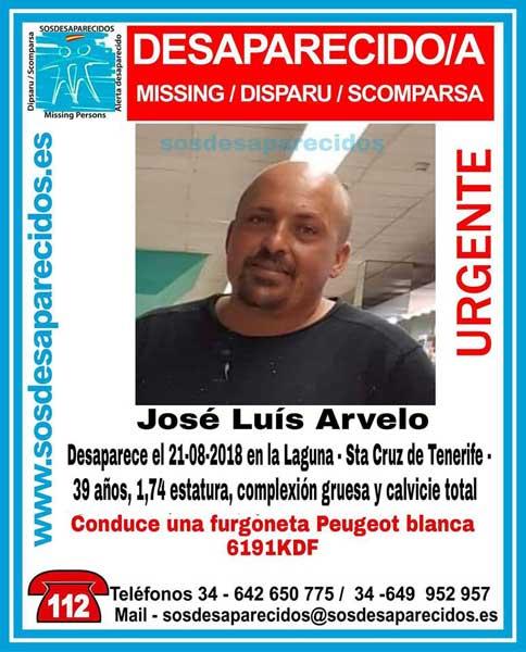 José Luis Arvelo, hombre desaparecido en La Laguna, Tenerife