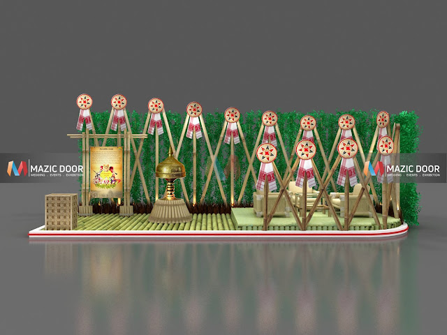 Bamboo Exhibition Stall Design 01