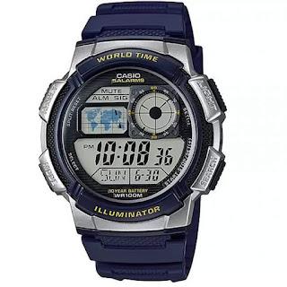 Casio digital AE-1000W-2AVDF warna biru
