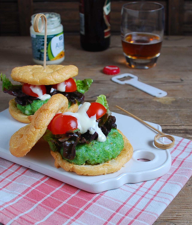 Hamburguesa de calamar con pan nube {sin gluten}