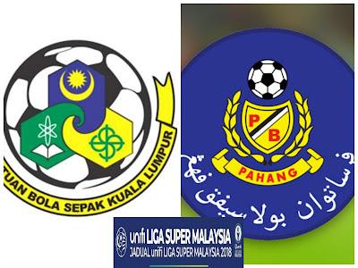 Live Streaming Kuala Lumpur vs Pahang Liga Super 15 April 2018