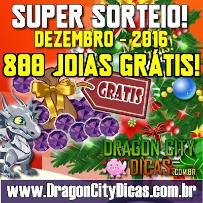 Super Sorteio de 800 Joias Grátis - Dezembro 2016