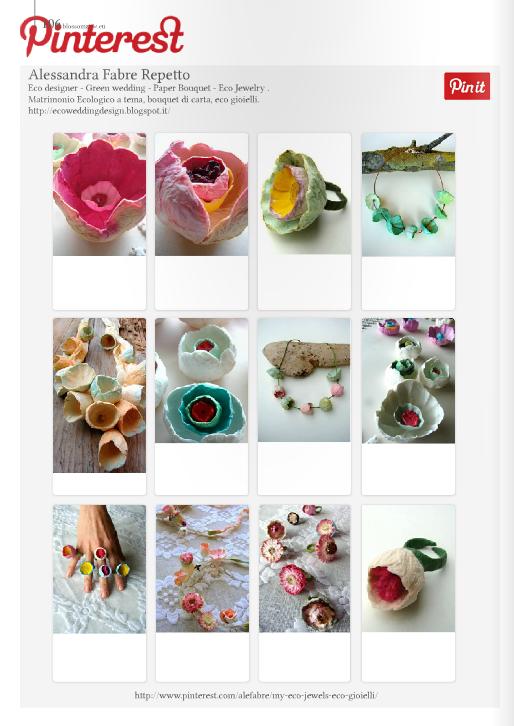 eco jewelry  hand made on blossom zine