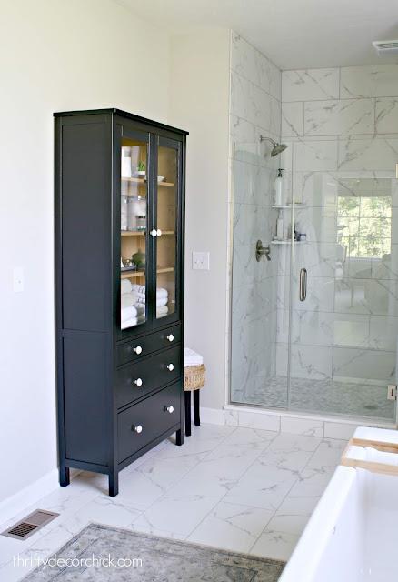 Hemnes IKEA cabinet painted black