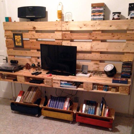rack TV, sala, rack, pallets, faça você mesmo, diy, decor, home decor, casa, a casa eh sua