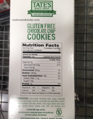 Tate's Bake Shop Chocolate Chip Cookies: gluten free for those with Celiac's disease
