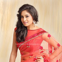 Arundhathi in Red Saree Cute Photos