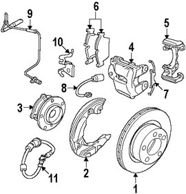 BMW 128i Front Brake w/ ABS Components Assembly and Parts