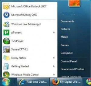 Change start menu button image