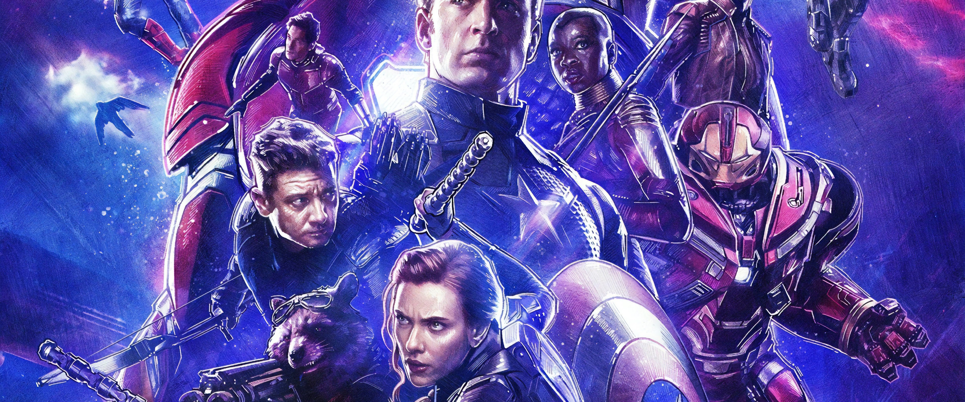 Avengers Endgame Captain America Black Widow Hawkeye 4k Wallpaper 91