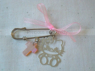 Hello Kitty Greek Christening witness pins M14