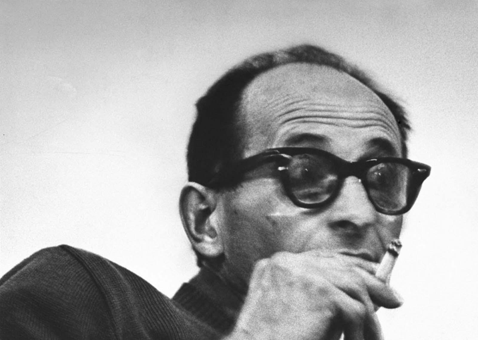 Adolf Eichmann awaited trial in Israel, 1961.
