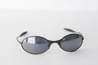 Oakley E Wire Pewter/Black Iridium Sunglasses Vintage