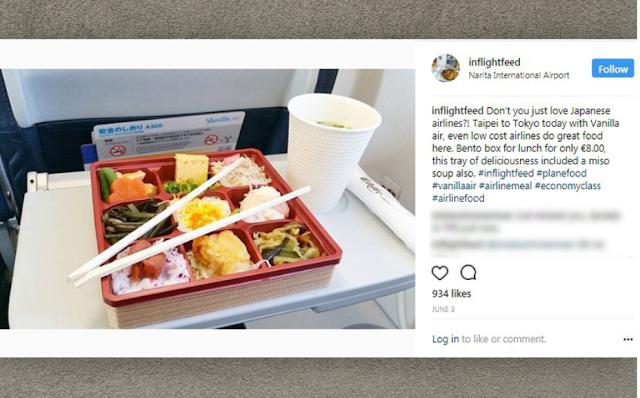 Menu Makanan di dalam Pesawat Vanilla Air