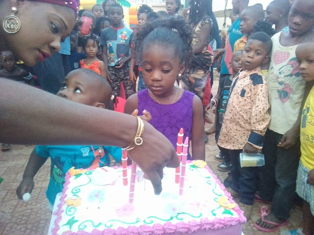 See photos from Mercy Johnson's daughter Purity's 4th birthday party