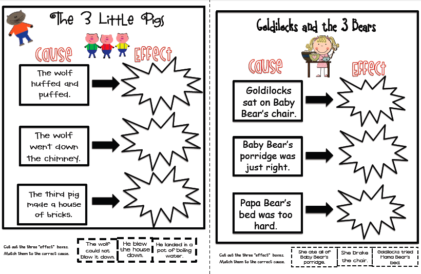 Cause And Effect Worksheets For