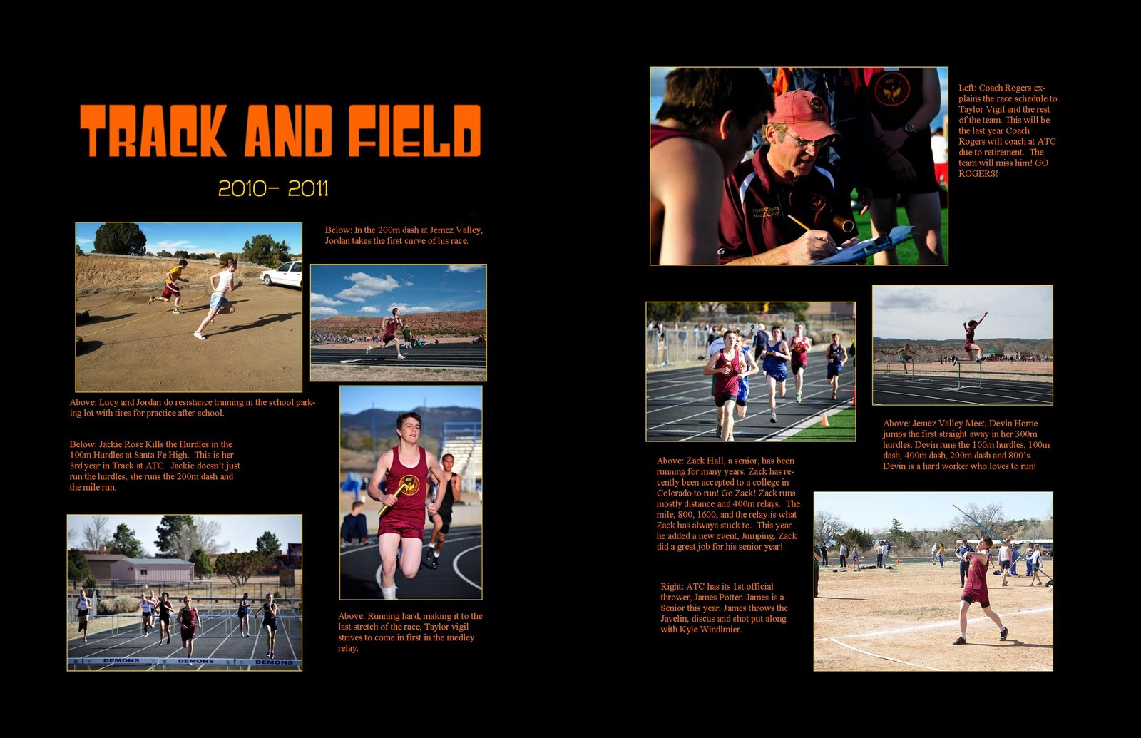 5 Best Photos Track And Field Layout Yearbook