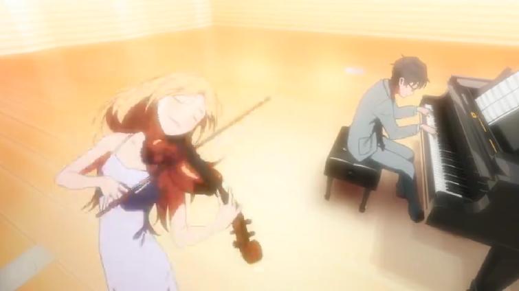 shigatsu wa kimi no uso anime romantis tema musik