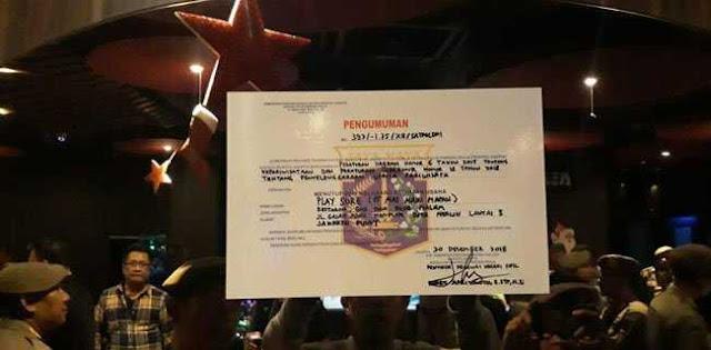 """Perangi Narkoba, Anak Buah Gubernur Anies Tutup Diskotek """"Play A Sure"""""""