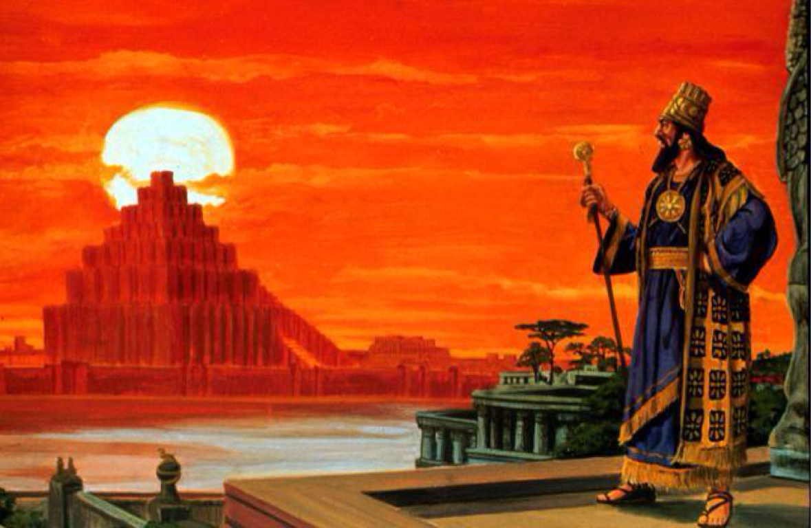 The Babylonian king was filled with pride and a sense of self-sufficiency as he admired his city from the roof of his palace.