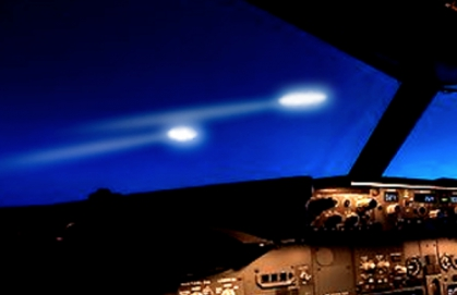 What did pilots see in Ireland's sky?