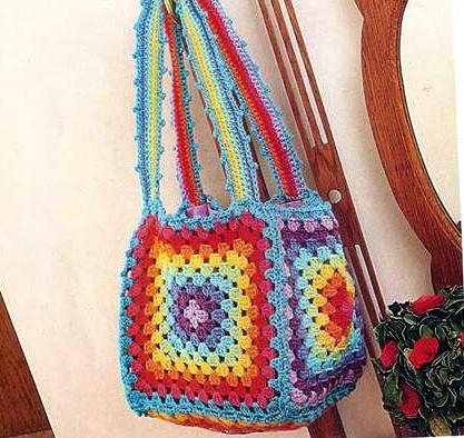 Patrón #1270: Bolso Rainbow a Crochet