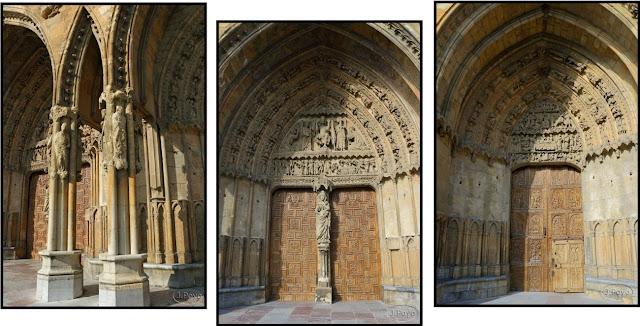 Detalles de la catedral de León