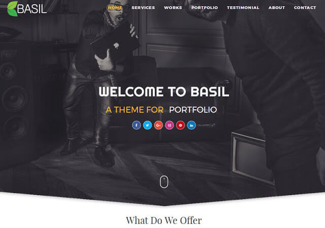 is a Modern in addition to Clean MultiPurpose Blogger Template for showcase your portfolio Free Download Basil Portfolio