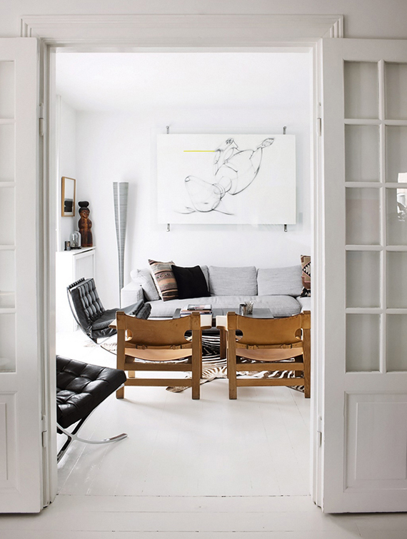 Scandinavian living room via Bolig Magasinet