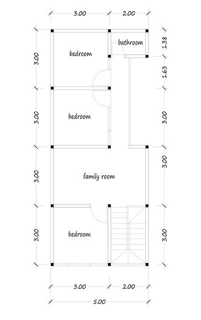 2nd floor plan of narrow house 10a