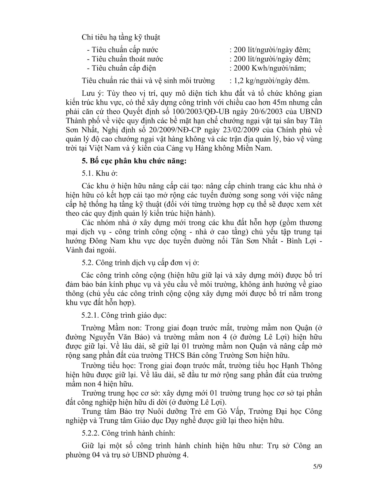 Quyết Định Số 2921/QĐ-UBND Quy Hoạch Khu Dân Cư Phường 4 Quận Gò Vấp Tờ 5