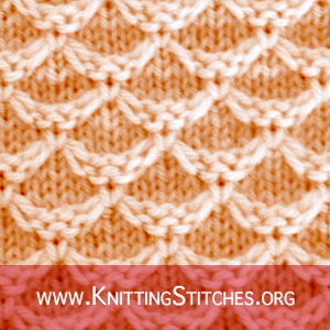 Diamond Honeycomb | Knitting Stitch Patterns. Honeycomb Slip Stitch Knitting Pattern