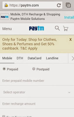 Trick to get unlimited recharge from PayTM wallet offer.