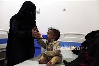 Akibat Pemberontakkan Syiah Houthi, Anak-anak Yaman Kelaparan dan Berpenyakit