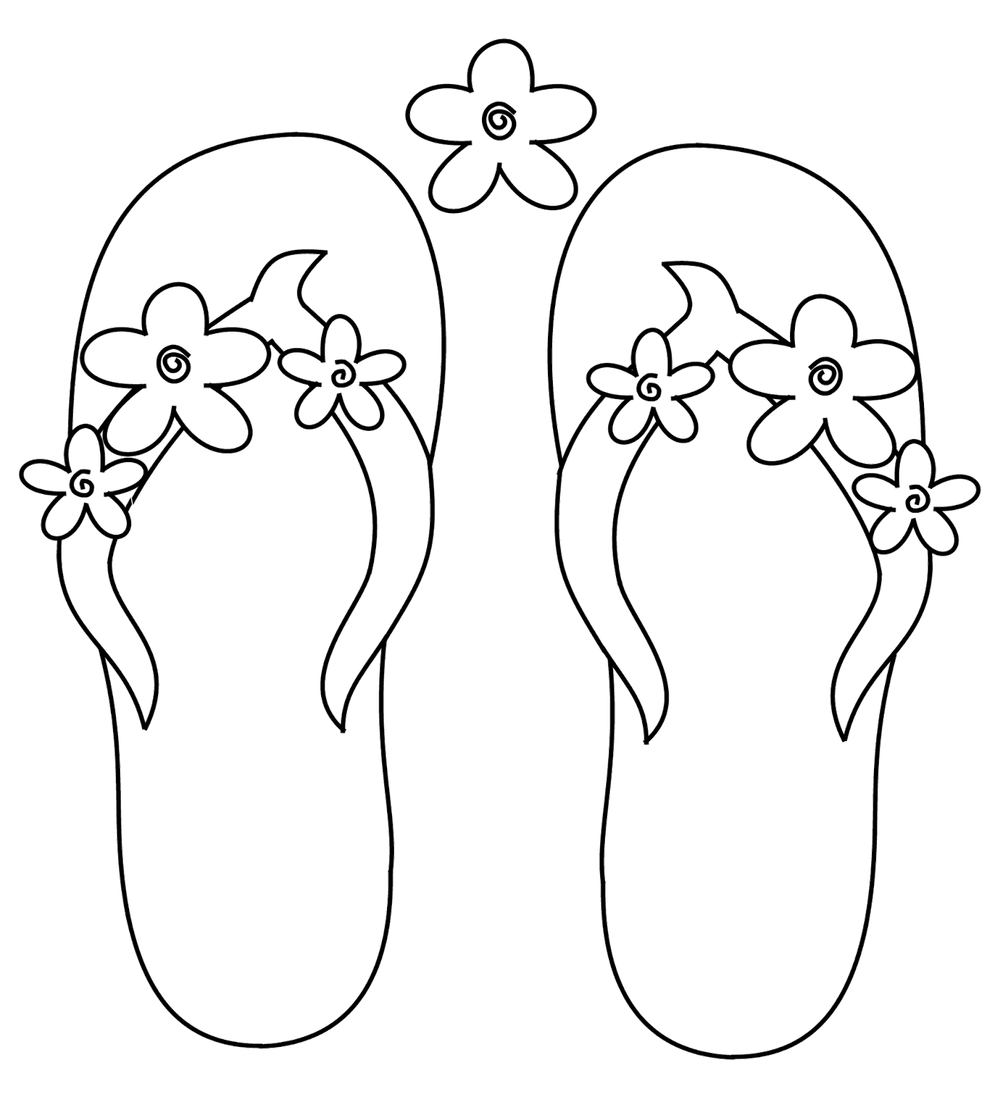 Scribbles Designs: #F 36 Flower Flip Flops (Free)