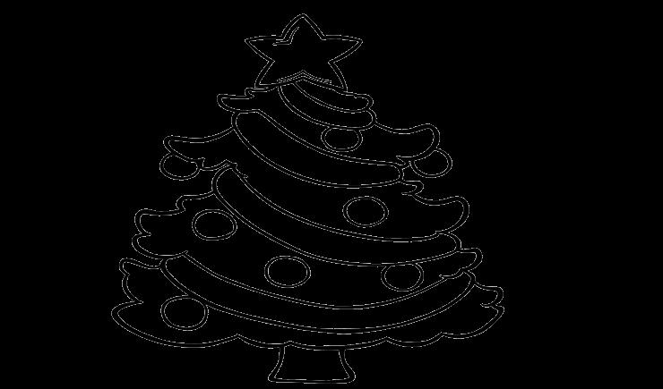 Gambar Mewarnai Pohon Natal Berbintang Aneka Mewarnai Gambar