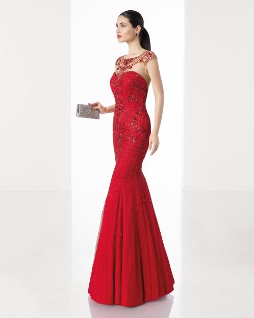 3be0213f8 4 vestidos largos para fiesta rojos Rosa Clará ¡de ensueño!