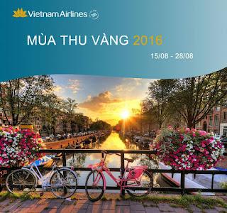 Khuyến mãi Vietnam Airlines mùa thu vàng Hà Nội