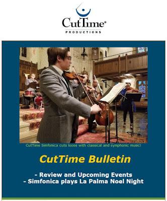 Rick Robinson: CutTime Newsletter - Noel Night at La Palma Dec. 1, 4:30 PM