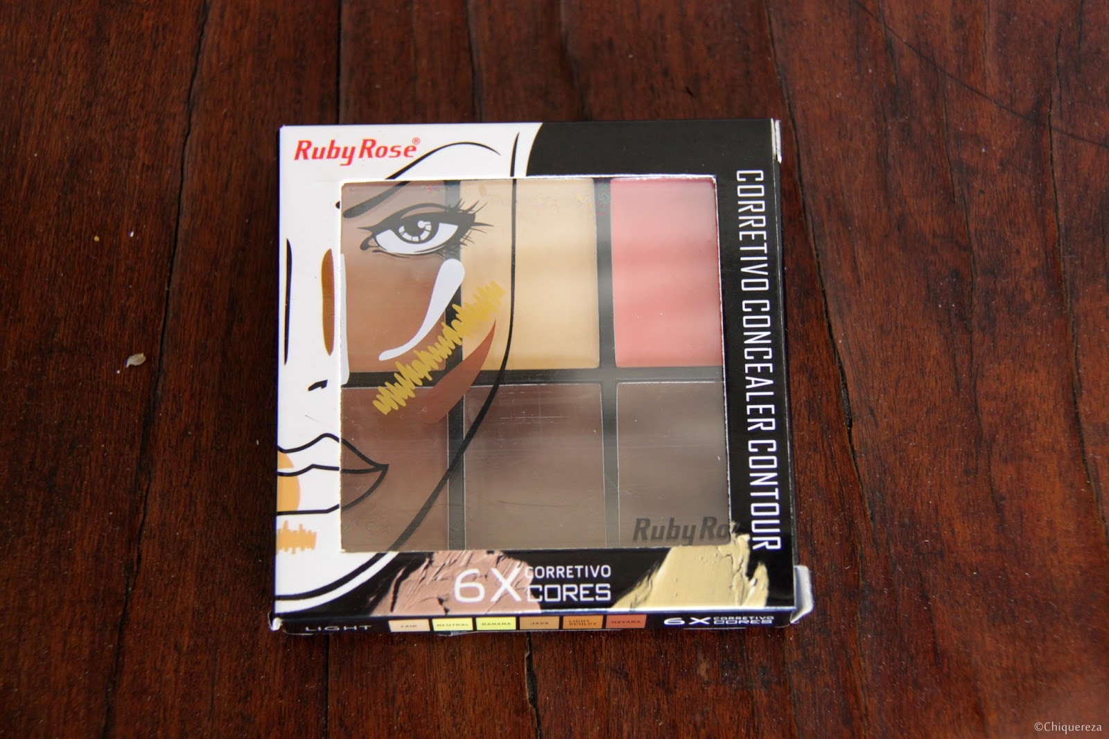 paleta de corretivo ruby rose medium