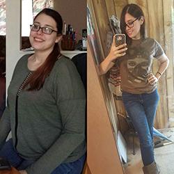 Отзывы о похудении, Оксана до и после