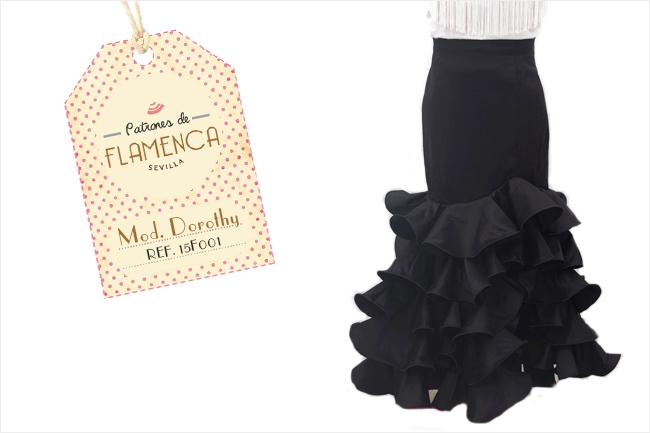 Básico de flamenca falda negra