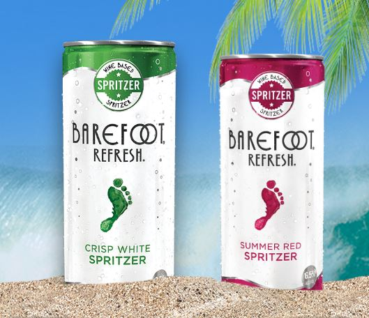 WineProGuy Wine Blog: Barefoot Spritzers refreshed in a can