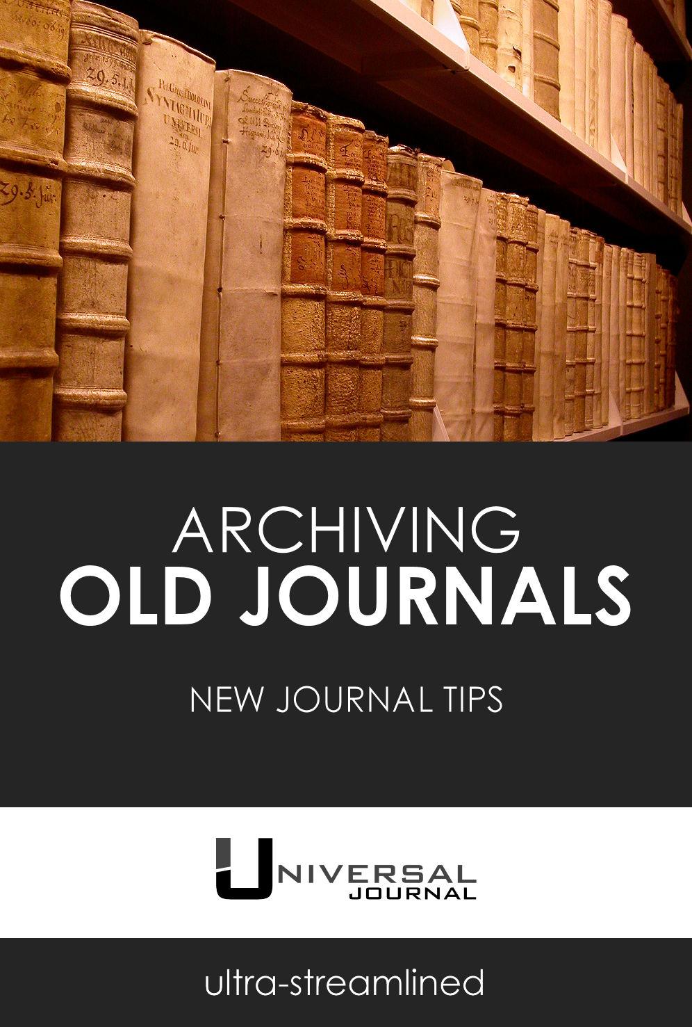 Bullet Journal archiving old notebooks