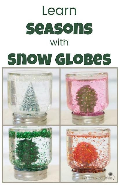 How to Make Seasonal Snow Globes with Kids