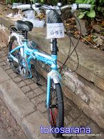 Sepeda Lipat Pacific 20-2588D Rangka Aloi dan Rem Cakram 20 Inci