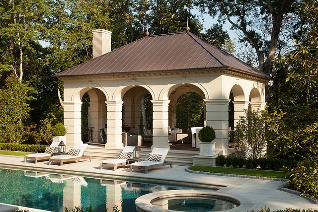 Things that inspire 2014 shutze awards a garden and pool for Pool pavilion plans