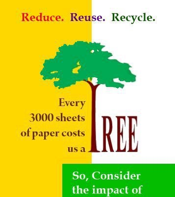 save paper save trees essay How to save paper trees are an important part of the planet's ecosystem, they  provide oxygen, clean the air, provide shade and food, and they're used as.