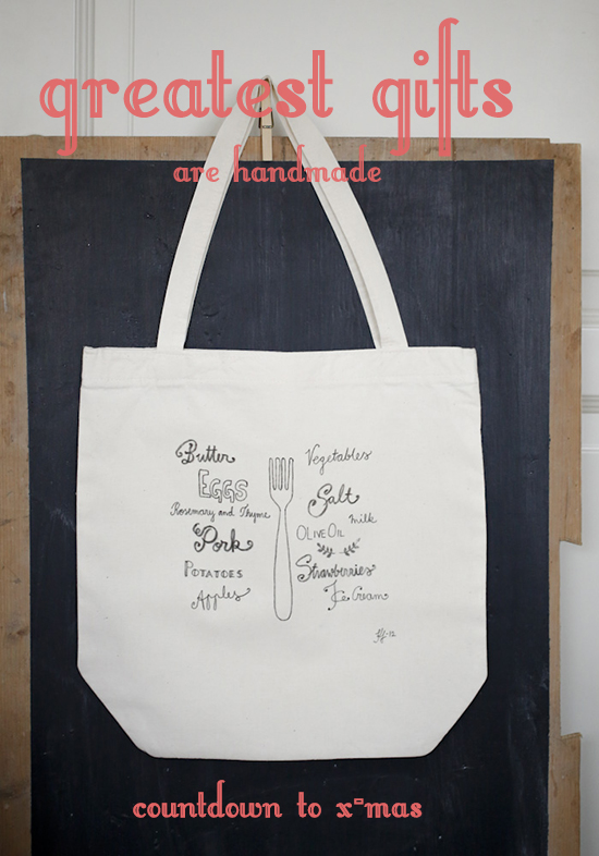 handmade tote bag by gretchen